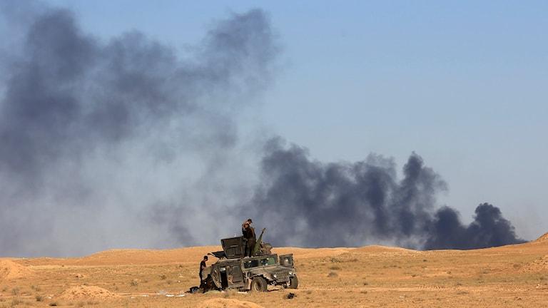 Irakiska trupper strider mot IS - Islamiska Staten