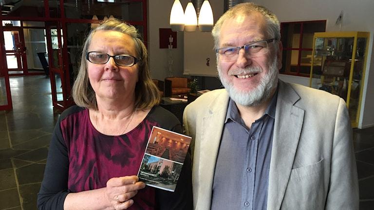 Nils-Gustav Sahlin, distriktsföreståndare, och Ulla-Gun Ångman, lokal föreståndare. Foto: Anders Molin/Sver