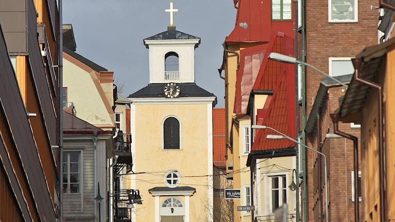 Östersunds centrum med Gamla Kyrkan