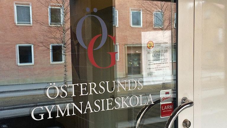 Entrédörr Östersunds Gymnasieskola