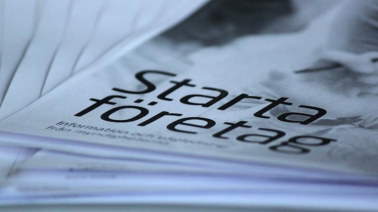 Informationsbroschyr Skatteverket starta eget företag