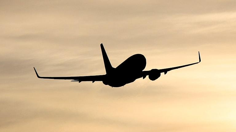SAS-flygplan lyfter från Åre Östersund Airport