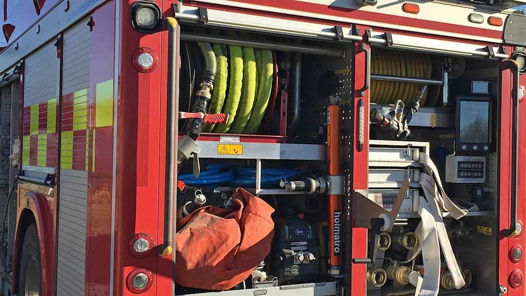 Brandbil med utrustning