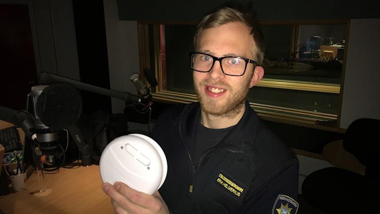 Erik Helmerius är utbildningssamordnare på Räddningstjänsten i Östersund.