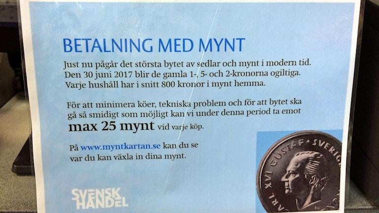 Svensk Handels rekommendation om gamla pengar