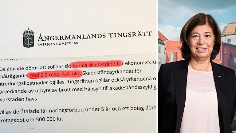 Ångermanlands tingsrätt Kindbergdomen Karin Malmgren chefsjurist Peab