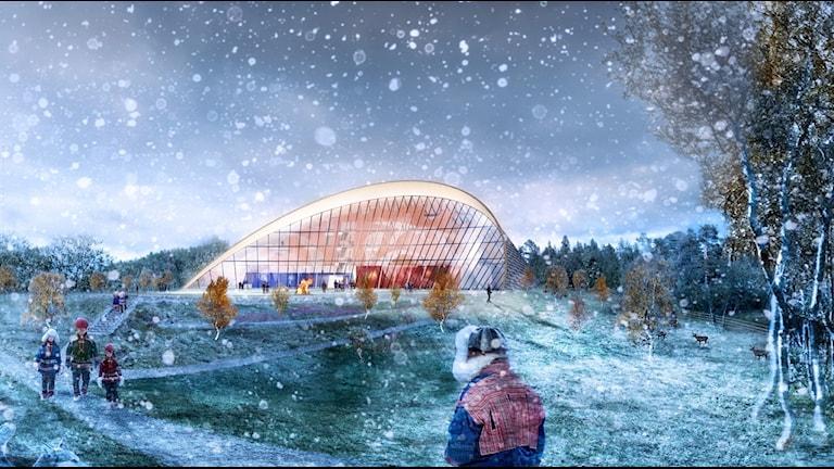 Arkitektfirman Murmans vinnande förslag till det Samiska parlamentshuset