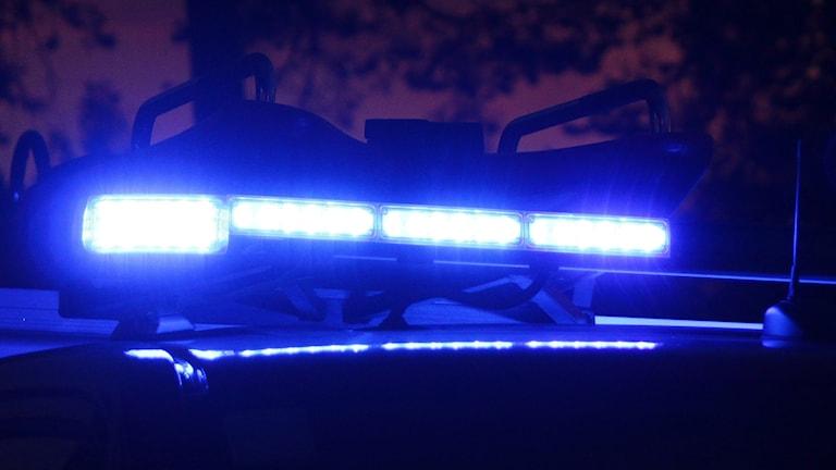 Blåljus på räddningstjänstbil