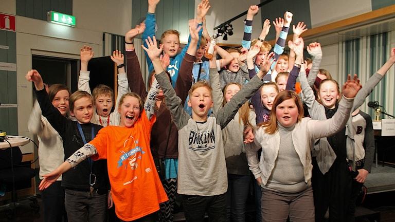 Östbergsskolan 5B till länsfinal