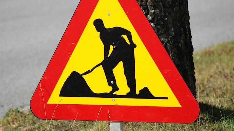 Varningsmärke för vägarbete