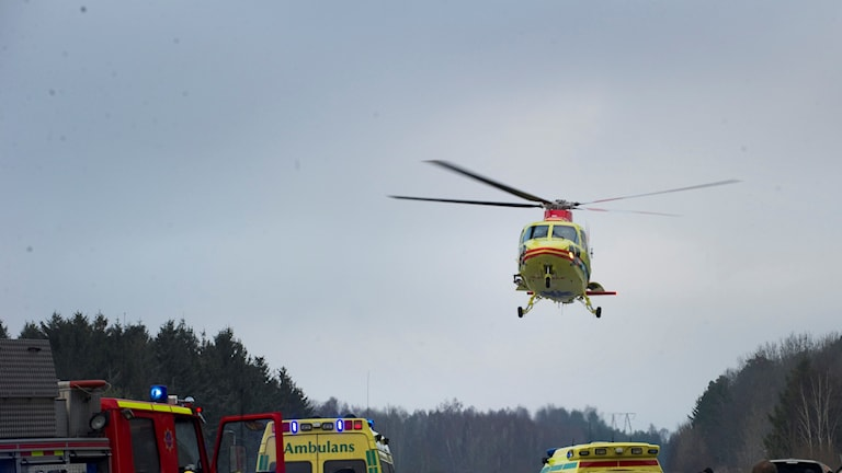 ambulanshelikopter, ambulans, trafikolycka
