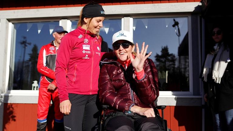 Anna Holmlund och Charlotte Kalla