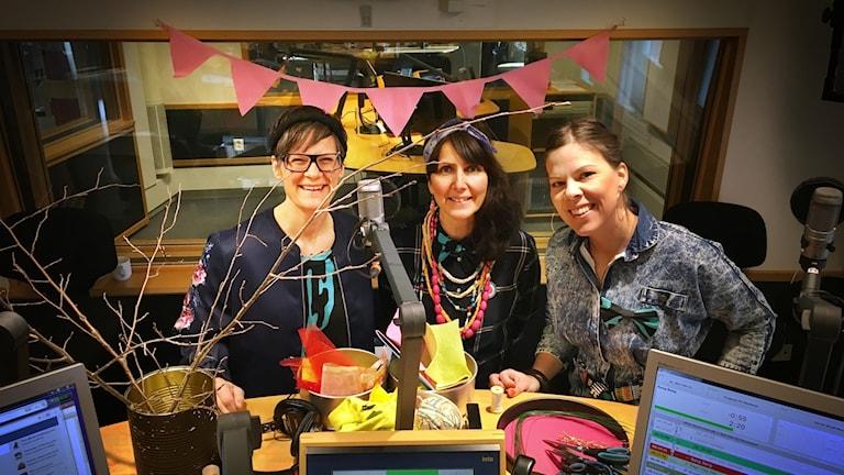 Frida Kjellgren, Linda Vestberg och Camilla Abramsson