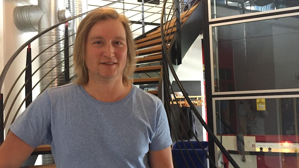Calle Hedman från Destination Östersund berättar om gratis internet i Östersunds stadskärna.
