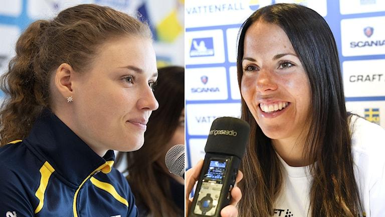 Hanna Öberg och Charlotte Kalla. Arkivbild.