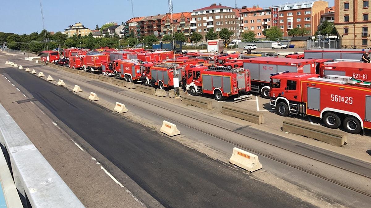 Den polska konvojen som kör från södra Sverige till Sveg