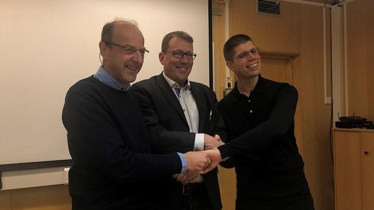 Thomas Wiklund (M), Anders Häggkvist (C) och Lars-Gunnar Nordlander (S)