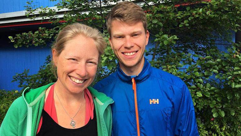 Porträttbild på en kvinna och en man. Maria Ehlin Kolk och Lars Löfgren.