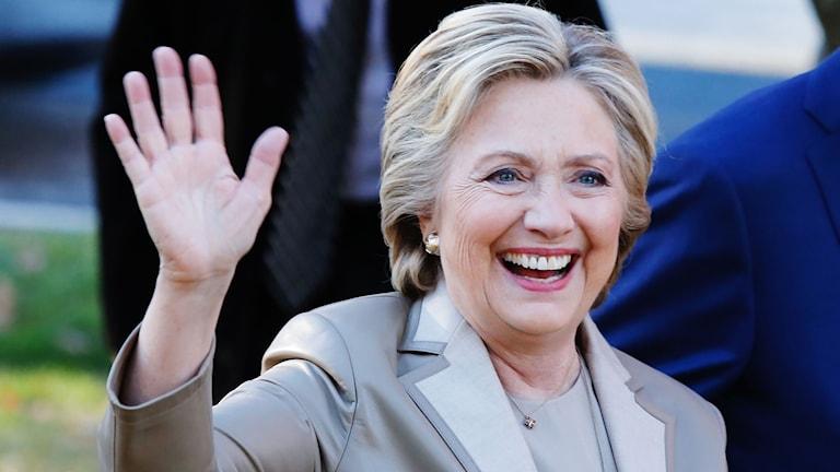 Hillary Clinton är en av kandidaterna i USA- valet.