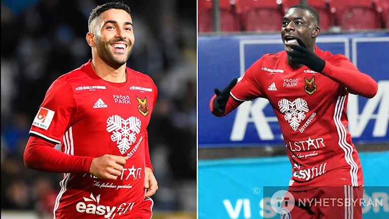 Fotbollsspelarna Saman Ghoddos och Ken Sema Östersunds Fotbollsklubb montage