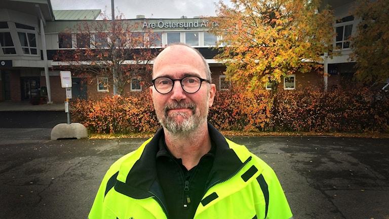 Carl Johan Hausenkamp är operativ chef på flygplatsen Åre Östersund Airport på Frösön.