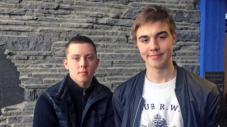 basketkillar  Adam Johansson och Olle Lundqvist