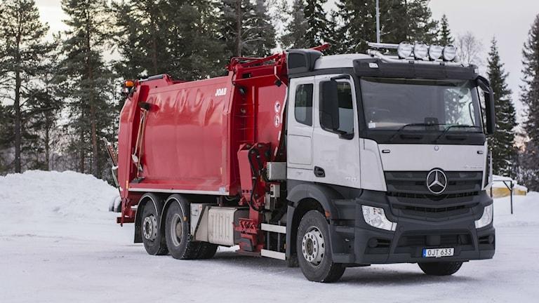 Strömsunds kommun har en ny sopbil. Foto: Pernilla Gunnarsdotter Persson/Strömsunds kommun