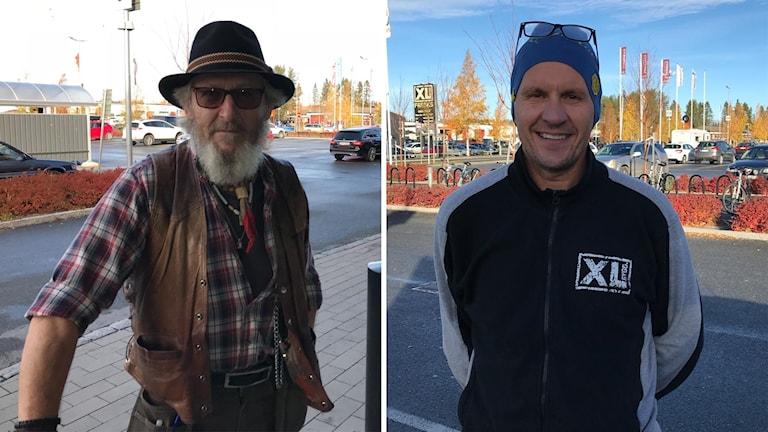 Kjell-Åke Stolt från Fåker och Stefan Dalfren från Östersund. Foto: Marcus Frånberg/Sveriges Radio