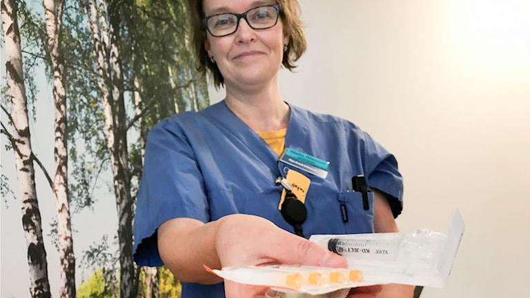 Malin Matsson Sjuksköterska sprututbytesmottagning Östersunds sjukhus Region Jämtland Härjedalen