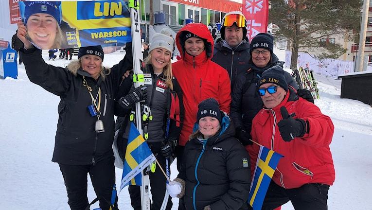 Här Lin Ivarsson från Åre med familj och vänner.