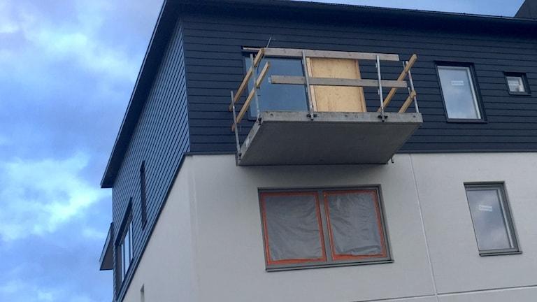 bygge, byggbranschen, hus, lägenheter, östersundshem, balkong, nybyggt