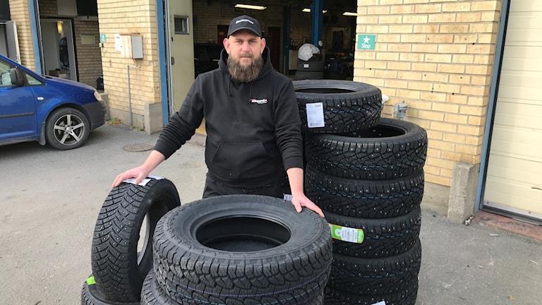 Andres Leithe, platschef på en däckfirma i Östersund.