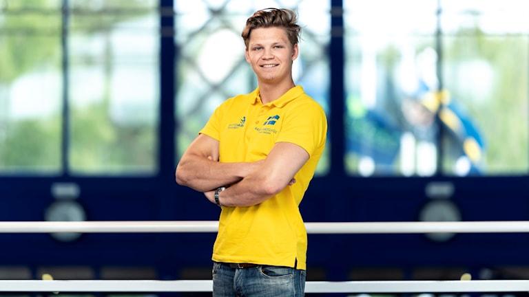 Lastbilsteknikern Ante Olofsson. Foto: Pressbild från WorldSkills Sweden