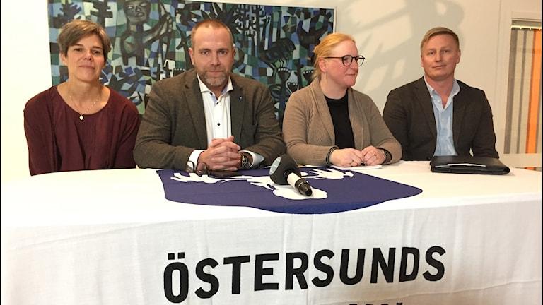Presskonferens om vattensituationen i Östersund