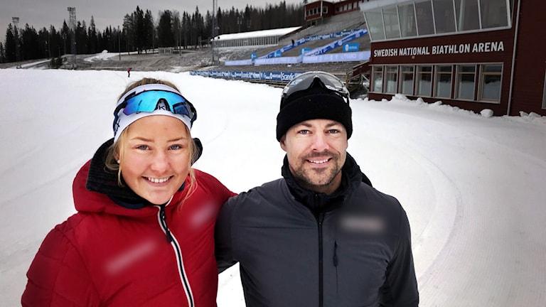 Längdskidåkarna Tilde Bångman och Ludvig Søgnen Jensen är med och tävlar i supersprint på Östersunds skidstadion.