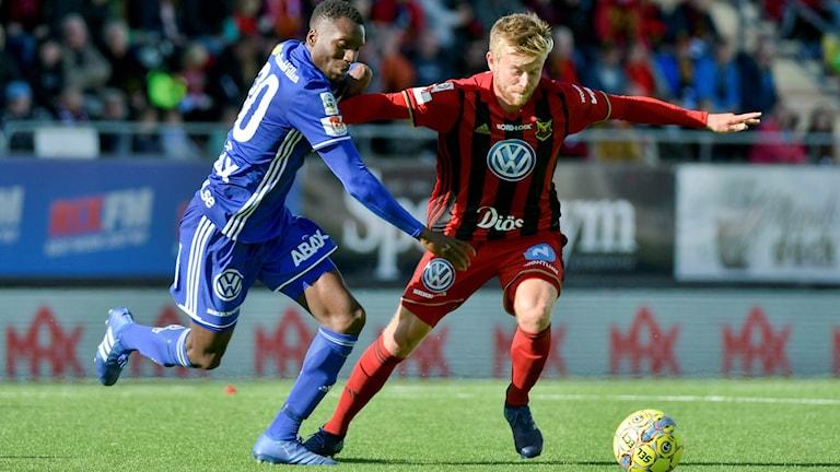 Östersunds Dennis Widgren under söndagens allsvenska fotbollsmatch
