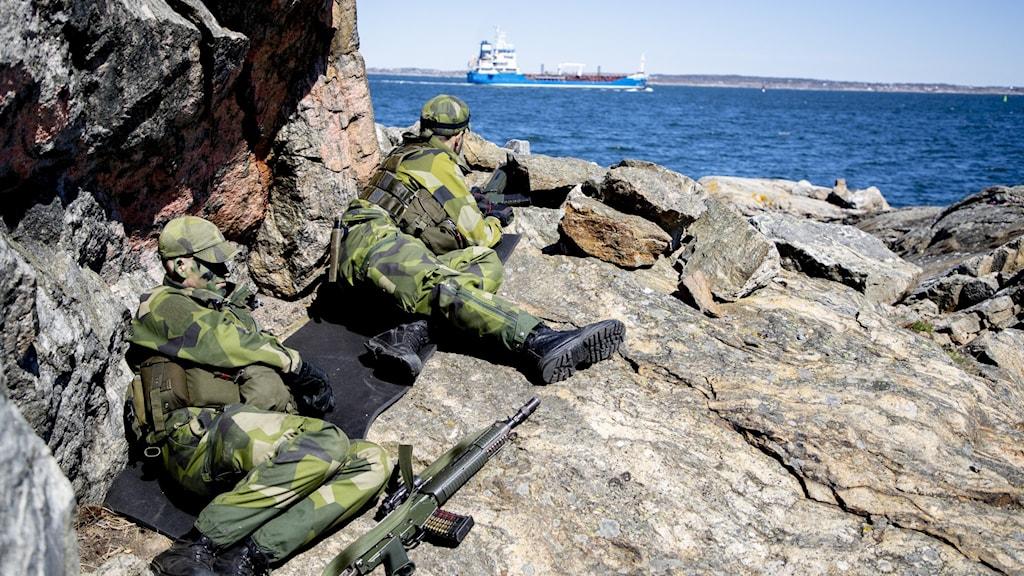 Soldater i fält.