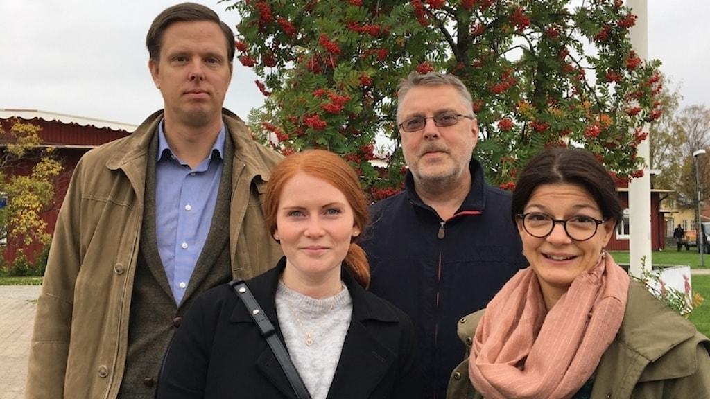 Björn Scharin, Emelie Björkegren Näslund, Peder Cristvall och Anna Montelius jobbar på nätsäkerhetsavdelningen på Post- och Telestyrelsen.
