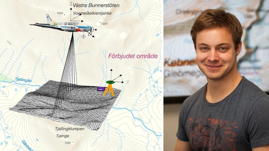 Björn Olander geodatahandläggare Lantmäteriet flygskanning