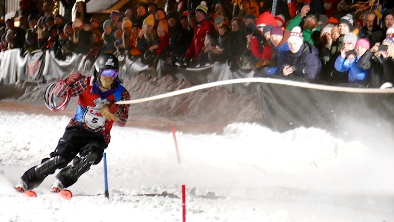 Henrik Windstedt vann skijoring-tävlingen under alpina VM i Åre.
