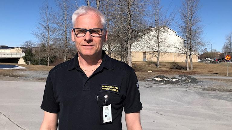 Sven-Erik Svensson, brandinspektör och inre befäl vid Jämtlands Räddningsförbund.