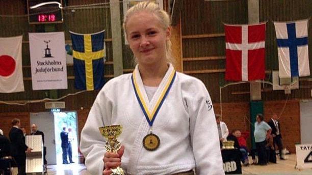 Gry Johnsson, Östersunds judoklubb, efter seger i Swedish Open 160924. Foto: Jone Johnsson