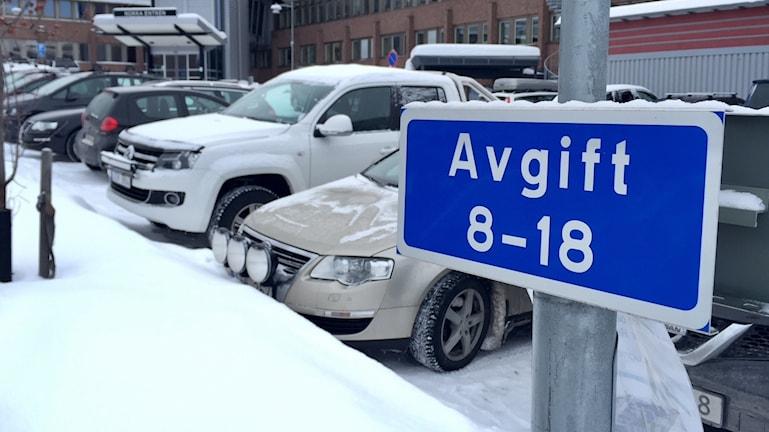 parkering, sjukhuset, sjukhusparkering, Östersunds sjukhus