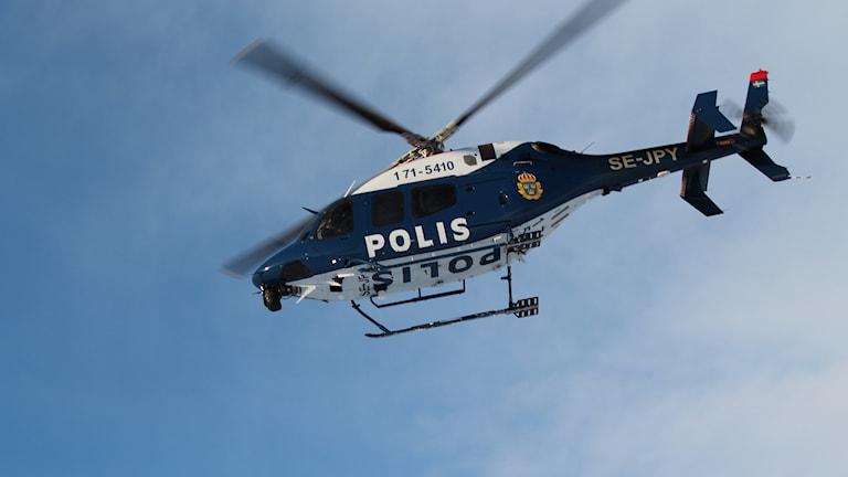 Polishelikopter, Oviksfjällen, Jämtland. Foto Marcus Frånberg Sveriges Radio 180124
