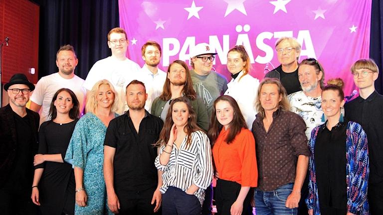 Deltagare och programledare P4 Nästa 2018.