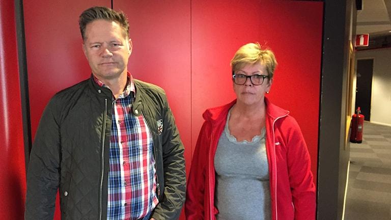 Jonas Törngren, kommundirektör i Krokoms kommun och Lohla Persson på fackförbundet Kommunal.
