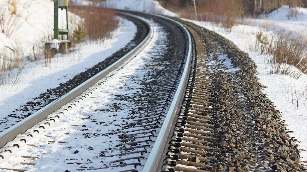 Järnväg vintermiljö