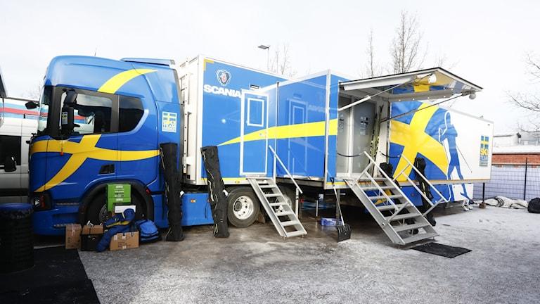 Lathi, Finland 20170221. Den svenske smørebussen er på plass under ski-VM. Foto: Terje Pedersen / NTB scanpix / TT / kod  20520
