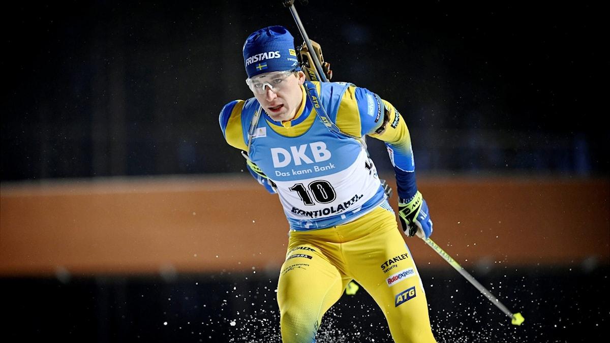 Skidskytten Martin Ponsiluoma. Foto: Antti Aimo-Koivisto/AP