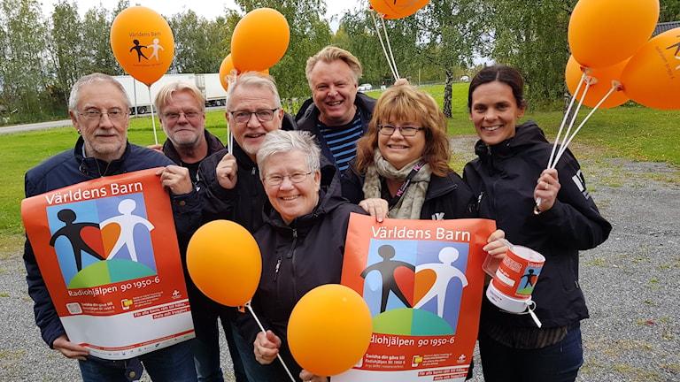 Mats Arnqvist, Pelle Törnqvist, Leif Landin, Agneta Nilsson, Per Larsson, Anneli Johansson och Johanna Vackdahl. Foto: Björn Djurberg/Sveriges Radio